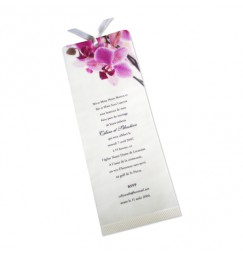 Wedding invitation SW orchid