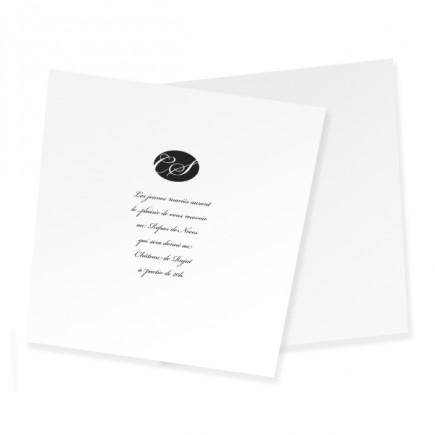 Carton d'invitation corset