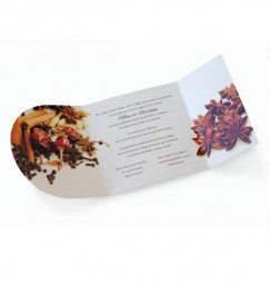 Wedding invitation spice rayon