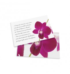Dinner card orchid wrap
