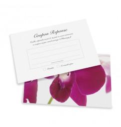 Carton réponse orchidée wrap