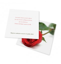 Carton d'invitation rose rayon
