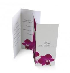 Menu individuel orchidée wrap