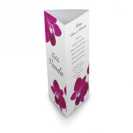 menu de table orchid e wrap. Black Bedroom Furniture Sets. Home Design Ideas