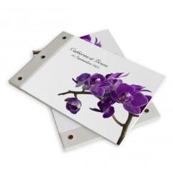 Livre d'or mariage orchidée violette wrap