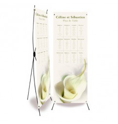 Table plan banner calla lily
