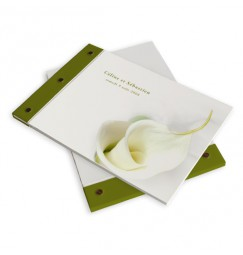 Livre d'or mariage calla lily