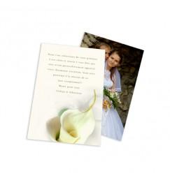 Remerciement classique calla lily