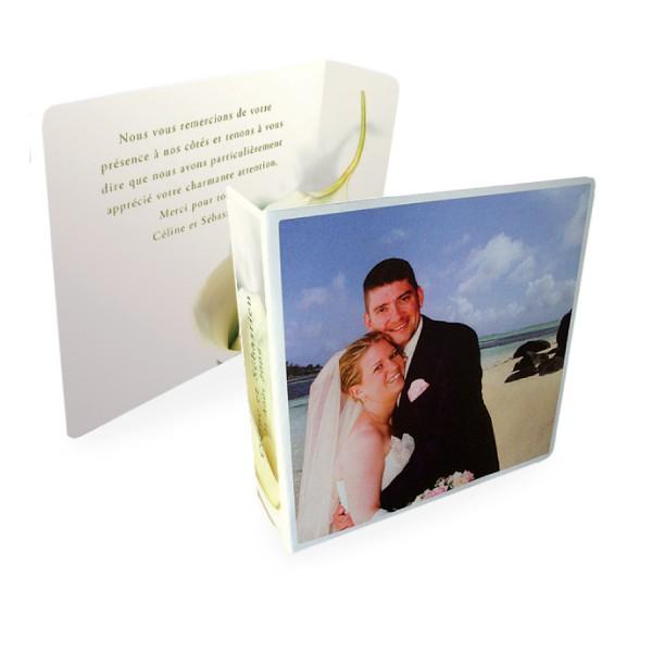 Carte Remerciement Mariage Original Calla Lily