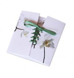 Wedding invitation corset orchid