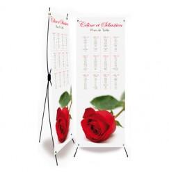 Table plan banner rose rayon