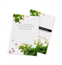 RSVP card petals and vines