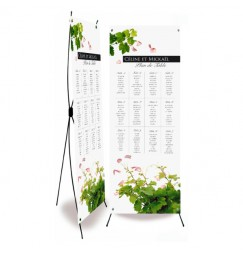 Table plan banner petals and vines