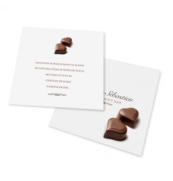 Carton d'invitation chocolat BF