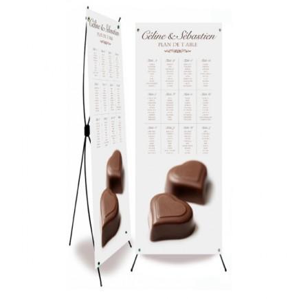 Plan de table mariage chocolat BF