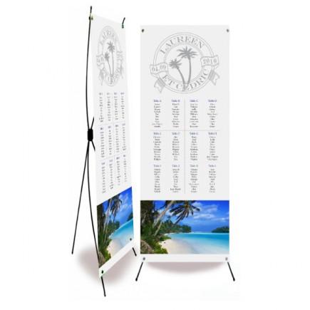Table plan banner caribbean beach