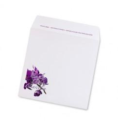 Enveloppe orchidée avorio violette