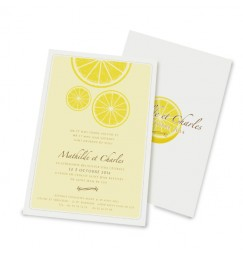 Wedding invitation lemon
