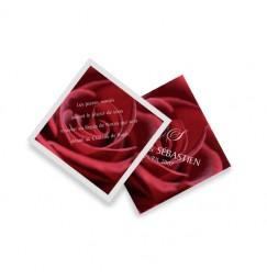 Carton d'invitation rose de l'été