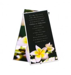 Wedding invitation frangipani