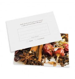 RSVP card spice wrap