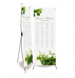 Table plan banner vine