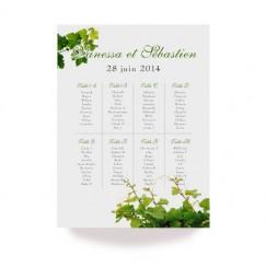 Table plan vine