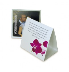 Thank you card pyramid orchid wrap