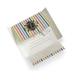 Wedding invitation small chocolate