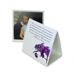 Thank you card pyramid purple orchid wrap