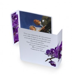 Original thank you card purple orchid wrap