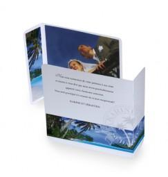 Original thank you card caribbean beach