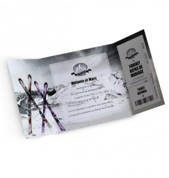 Wedding invitation ski