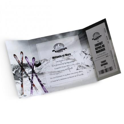 Wedding invitation ski