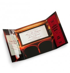 Wedding invitation silence motor action