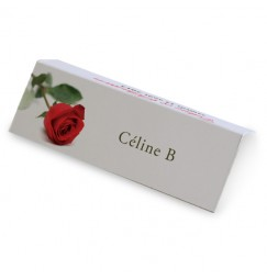 Place card rose rayon