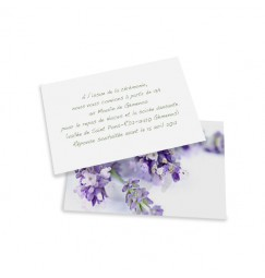 Carton d'invitation lavande wrap