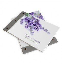 Wedding book lavender wrap