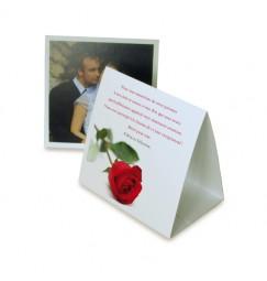 Thank you card pyramid rose rayon