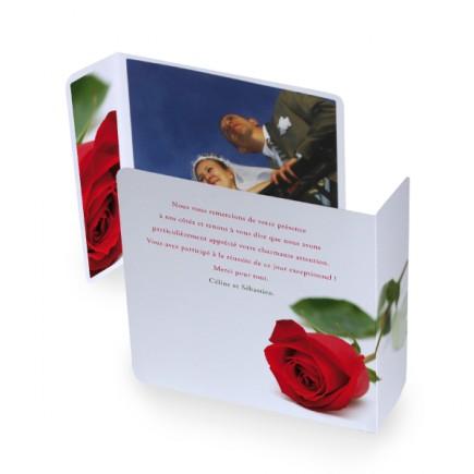 Remerciement original rose rayon