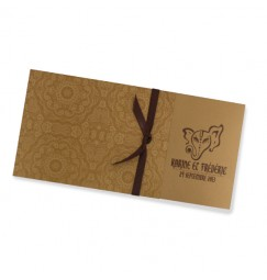 Wedding invitation indian gold