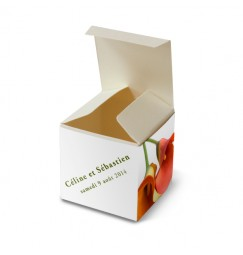Wedding favor box arum