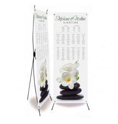 Plan de table mariage orchidée zen