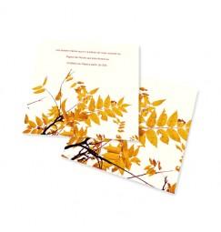 Carton d'invitation automne