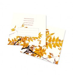 RSVP card autumn