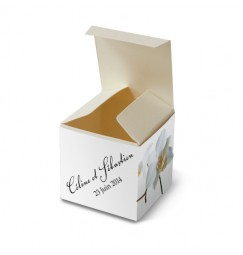 Wedding favour box corset orchid