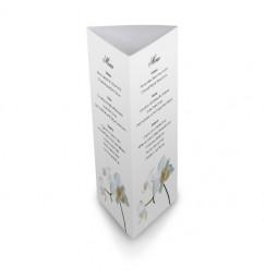 Menu de table corset orchidée
