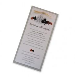 Faire part mariage feuille d'automne