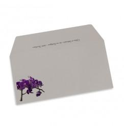 Enveloppe mariage orchidée violette wrap