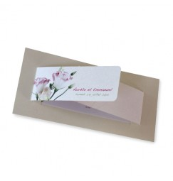 Wedding invitation lisianthus rose wrap
